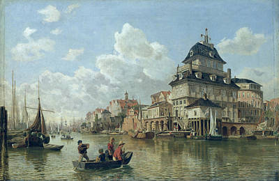 1905 Painting - The Boat House At Hamburg Harbour by Valentin Ruths