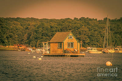 The Boat House Art Print by Claudia M Photography