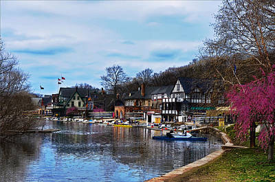 Boathouse Row Digital Art - The Boat House Row by Bill Cannon