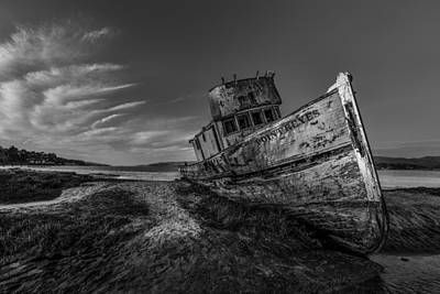 Photograph - The Boat In Black And White by PhotoWorks By Don Hoekwater