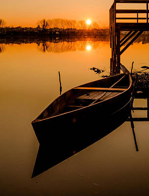 Photograph - The Boat In The Sunset by Alexandre Martins