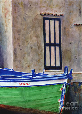 Transportation Paintings - The Boat by Karen Fleschler
