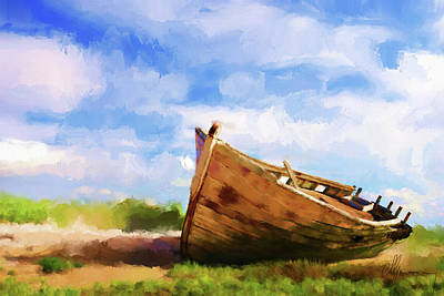 Ship Wreck Painting - The Boat by Michael Greenaway