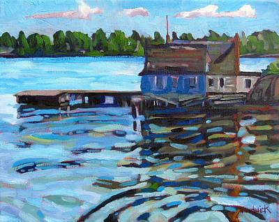 St. Lawrence River Painting - The Boathouse Of Zavicon by Phil Chadwick