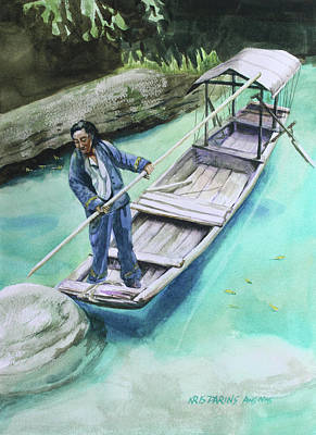 Painting - The Boatman by Kris Parins