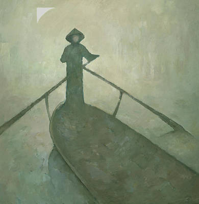 Painting - The Boatman by Steve Mitchell