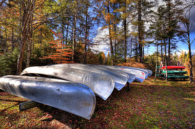 Photograph - The Boats At Woodcraft Camp by David Patterson
