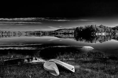 The Boats On Seventh Lake Art Print