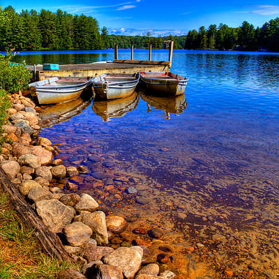 The Boats On White Lake Art Print by David Patterson