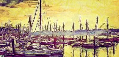 Digital Art - The Boats by Pedro Venancio