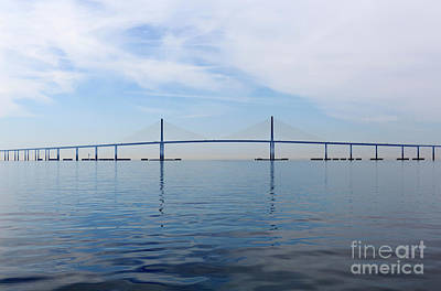 Sunshine Skyway Bridge Wall Art - Photograph - The Bob Graham Sunshine Skyway Bridge Tampa Bay by Louise Heusinkveld