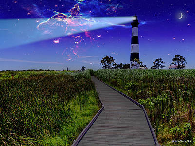 Photograph - The Bodie Island Lighthouse Incident by Brian Wallace