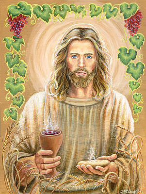 The Body And Blood Of Our Lord Jesus Christ Art Print by Jenny McLaughlin