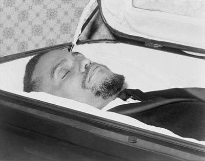 Discrimination Photograph - The Body Of Malcolm X, Slain Negro by Everett