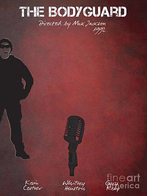 Kevin Costner Digital Art - The Bodyguard By Mick Jackson Film Poster by Justyna JBJart