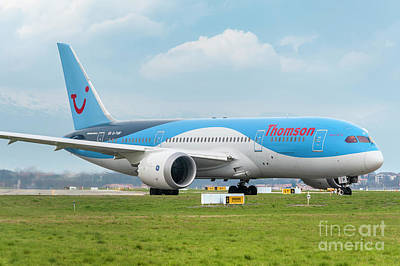 Jet Photograph - The Boeing 787-8 G-tuif Ready For Departure Thomson Tui Airline by Roberto Chiartano