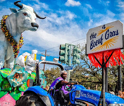 Mardi Gras Photograph - The Boeuf Gras 2 - Paint by Kathleen K Parker