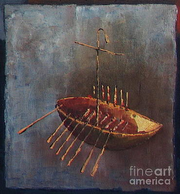 Painting - The Boighter Boat  500ad by Val Byrne