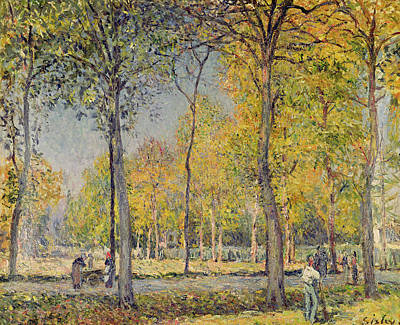 The Bois De Boulogne Art Print by Alfred Sisley