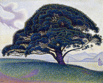 Pointillist Painting - The Bonaventure Pine  by Paul Signac