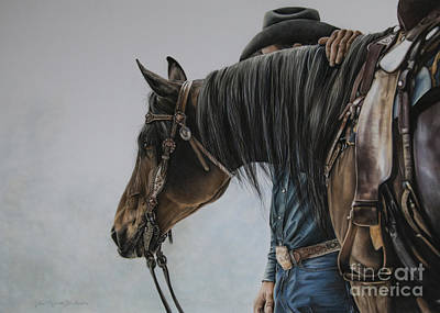 Quarter Horse Pastel - The Bond by Joni Beinborn