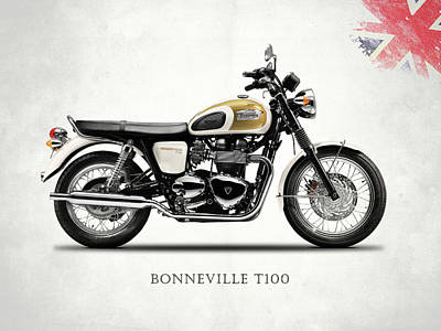 Bonneville Photograph - The Bonneville T100 by Mark Rogan