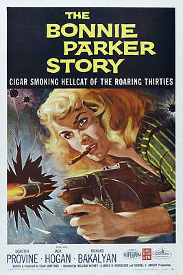 Mixed Media - The Bonnie Parker Story 1958 by Movie Poster Prints