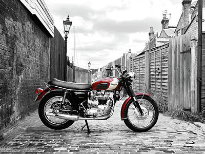 Triumph Bonneville Photograph - The Bonnie T120rt by Mark Rogan