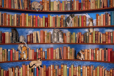 Surrealism Royalty-Free and Rights-Managed Images - The Book Club by Betsy Knapp