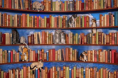 Mammals Digital Art - The Book Club by Betsy Knapp