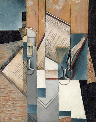 Cubist Painting - The Book by Juan Gris