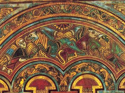 The Book Of Kells Print by Celtic Monks