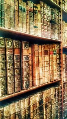 Mixed Media - The Bookcase by Abbie Shores