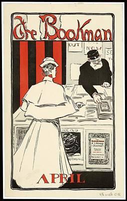 Mixed Media - The Bookman-april - Literary Magazine - Vintage Advertising Poster by Studio Grafiikka