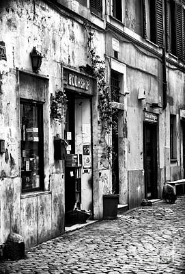 Trastevere Photograph - The Bookshop by John Rizzuto