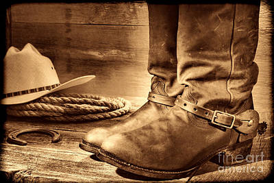 Photograph - The Boots by American West Legend By Olivier Le Queinec