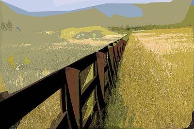 Mixed Media - The Border by Rick Thiemke