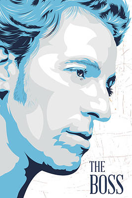 Bruce Springsteen Digital Art - The Boss by Ciaran Monaghan