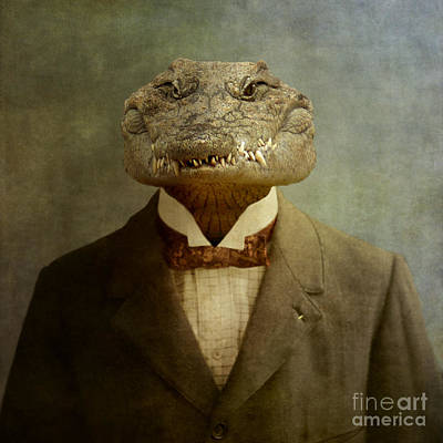 Reptiles Photograph - The Boss by Martine Roch