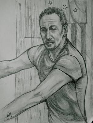 Bruce Springsteen Drawing - The Boss by Pete Maier