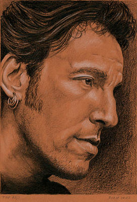 Bruce Springsteen Drawing - The Boss by Rob De Vries
