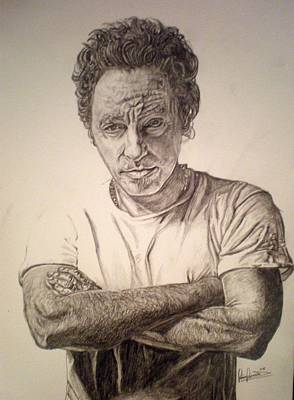 Bruce Springsteen Drawing - The Boss by Sean Leonard