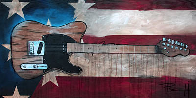 Born In The Usa Painting - The Boss by Sean Parnell