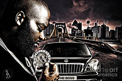 Rapper Digital Art - The Boss by The DigArtisT