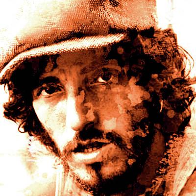 Bruce Springsteen Painting - The Boss Watercolor 2  by Enki Art