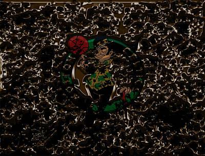 Larry Bird Mixed Media - The Boston Celtics 1b by Brian Reaves