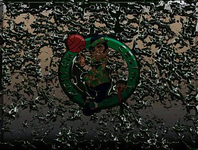 Larry Bird Mixed Media - The Boston Celtics 1c by Brian Reaves