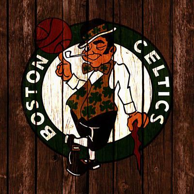 Larry Bird Mixed Media - The Boston Celtics 2c by Brian Reaves