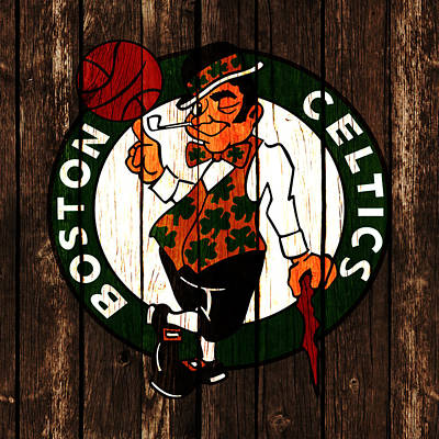 Indiana Pacers Mixed Media - The Boston Celtics 2d by Brian Reaves