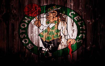 Larry Bird Mixed Media - The Boston Celtics 5a by Brian Reaves